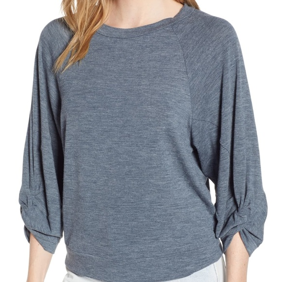 1. State Tops - 1.State Twist Knot Sleeve Top